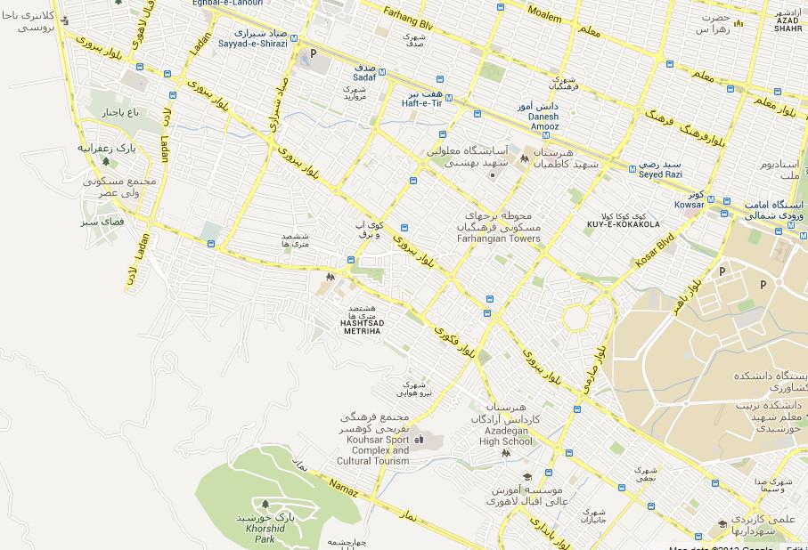 نقشه پیروزی مشهد