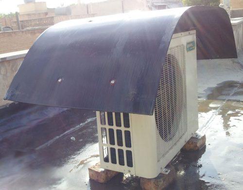 نصب کندانسور کولر گازی روی پشت بام