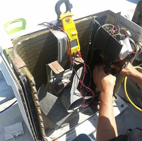 تست اتصال بدنه مرحله آخر در تست سیم پیچ کمپرسور کولر گازی