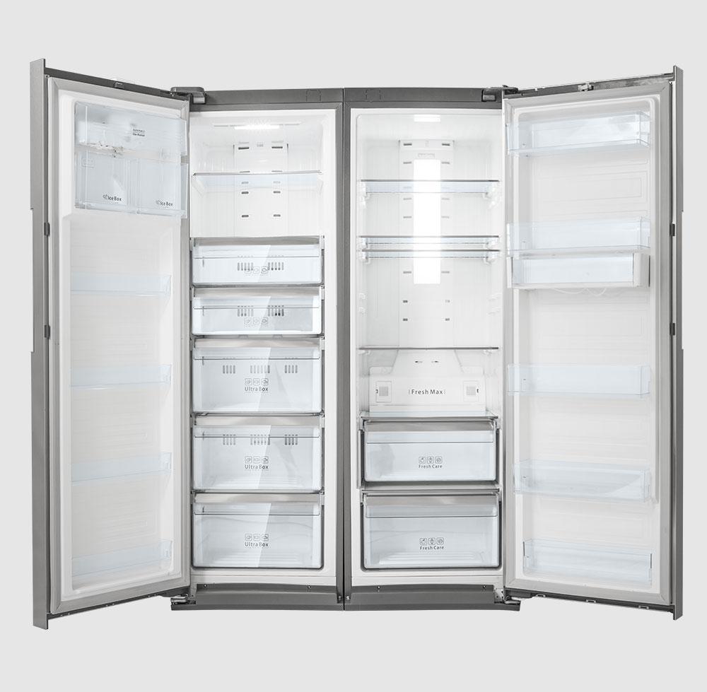 ابعاد داخل یخچال دوقلو