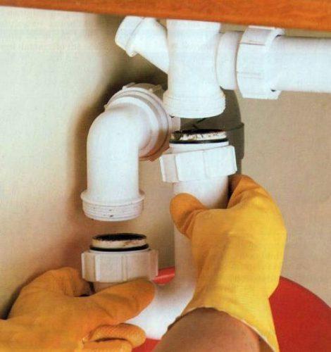 باز کردن اتصالات سینک ظرفشویی