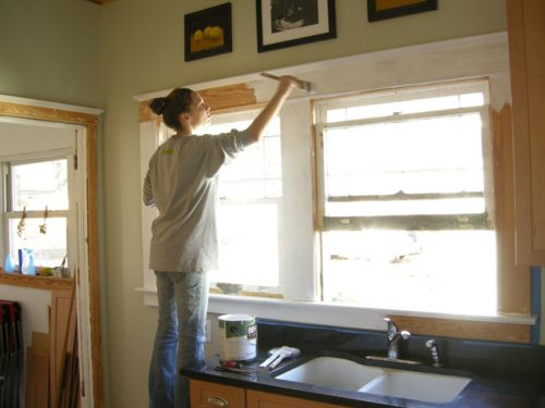 نحوه رنگ زدن در و پنجره
