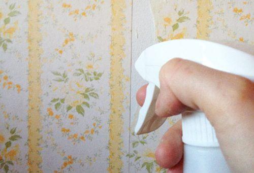 کندن کاغذ دیواری با استفاده از مواد شیمیایی