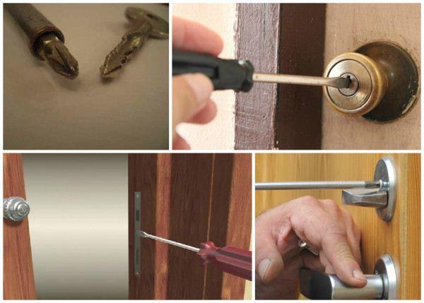 باز کردن درب با پیچ گوشتی وقتی کلید در قفل شکسته