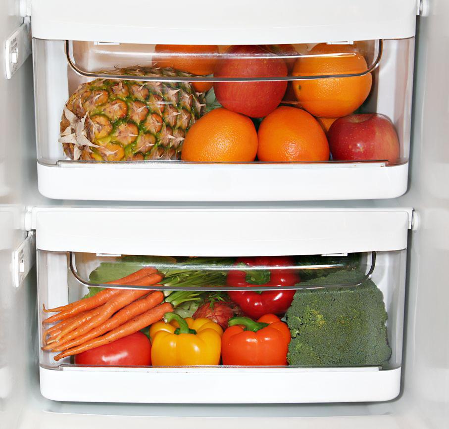کشو برای نگهداری میوه ها و سبزیجات در یخچال