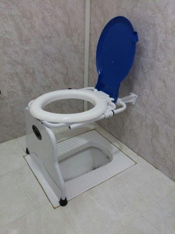 استفاده از دستشویی فرنگی های آماده