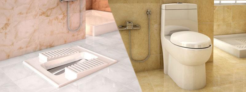 روش های تبدیل دستشویی ایرانی به فرنگی