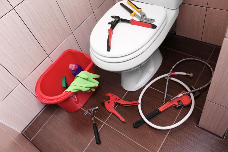 وسایل لازم برای نصب توالت فرنگی