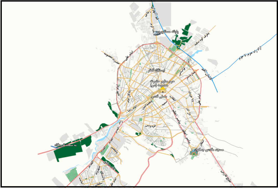 نقشه شهر قم