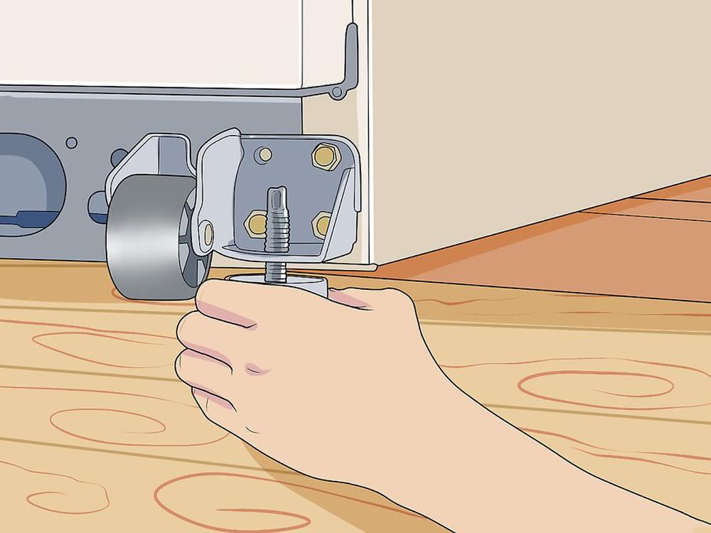 تراز کردن (صاف کردن) یخچال با استفاده از پایه
