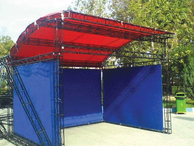 ساخت غرفه های نمایشگاهی با استفاده از اسپیس فریم