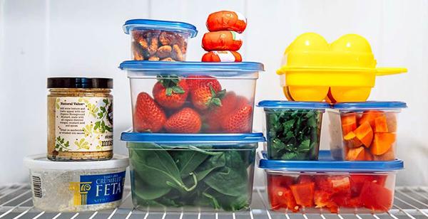 بسته بندی مواد غذایی در یخچال
