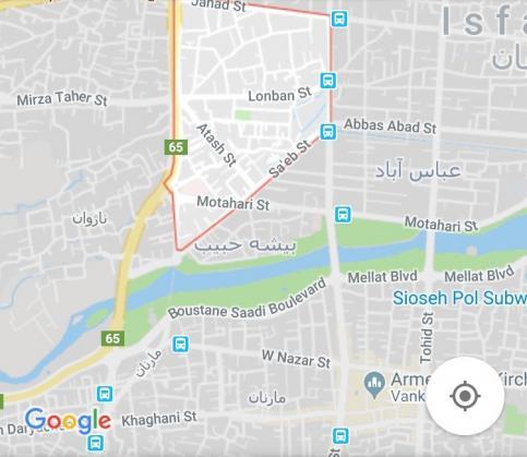 نقشه بیشه حبیب اصفهان
