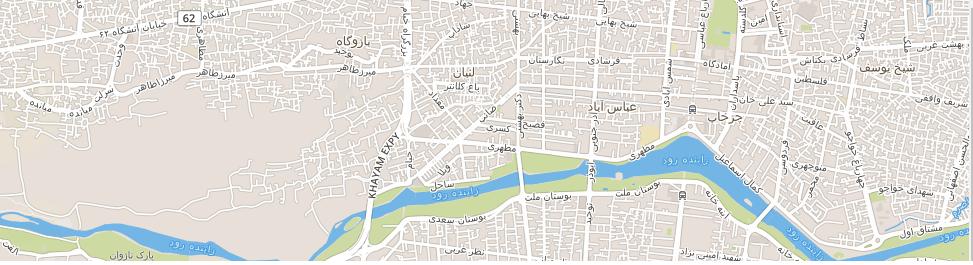 نقشه خیابان میرزا طاهر اصفهان