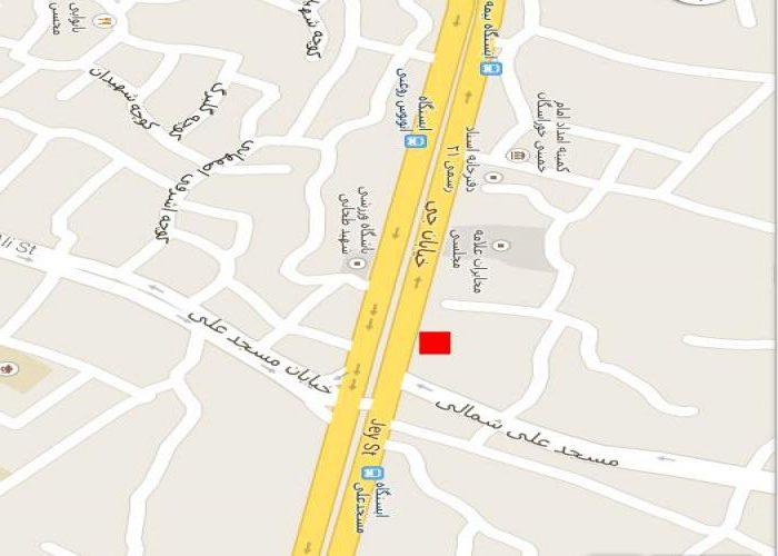 نقشه خیابان جی اصفهان