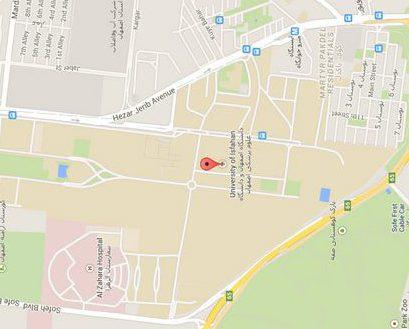 نقشه هزار جریب اصفهان