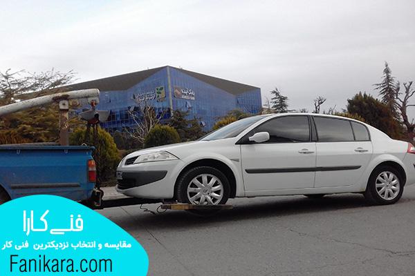 حمل خودرو با نیسان یدک کش چرخگیردار
