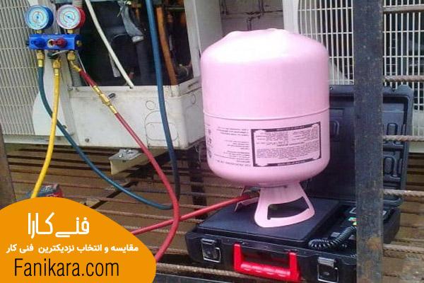 شارژ کولر گازی با فنی کار حرفه ای