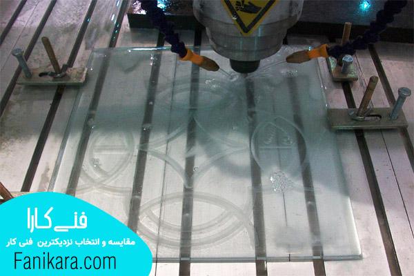 شیشه بری سیار و انجام خدمات cnc برش شیشه