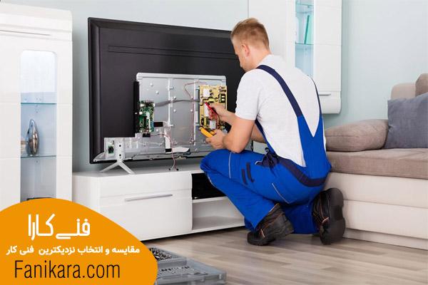 تعمیر پنل تلویزیون توسط تعمیرکار تلویزیون ال جی